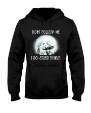 Scuba driving under the moon Hooded Sweatshirt front