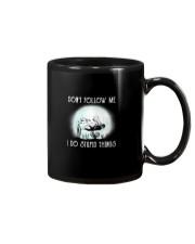 Scuba driving under the moon Mug thumbnail