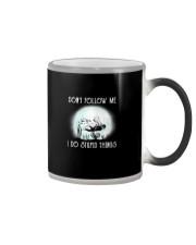 Scuba driving under the moon Color Changing Mug thumbnail