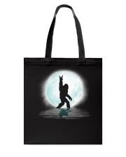 Funny bigfoot rock and roll under the moon Tote Bag thumbnail