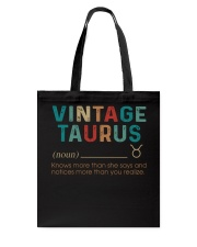 Vintage Taurus Tote Bag thumbnail