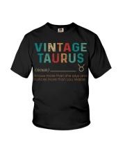 Vintage Taurus Youth T-Shirt thumbnail