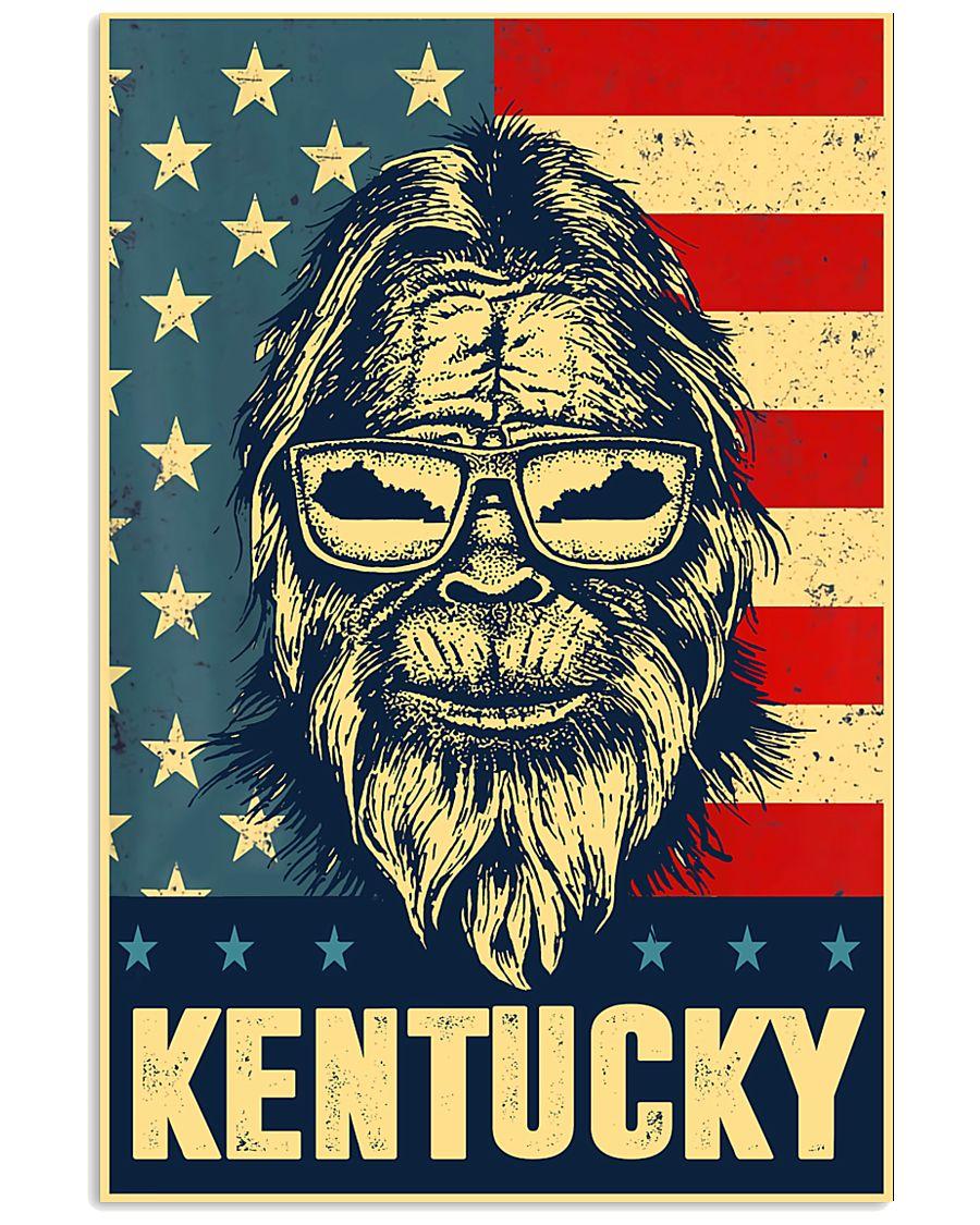 Bigfoot american flag - Kentucky 24x36 Poster