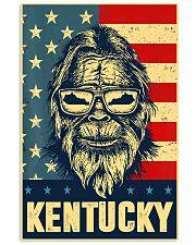 Bigfoot american flag - Kentucky 24x36 Poster front
