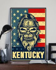 Bigfoot american flag - Kentucky 24x36 Poster lifestyle-poster-2