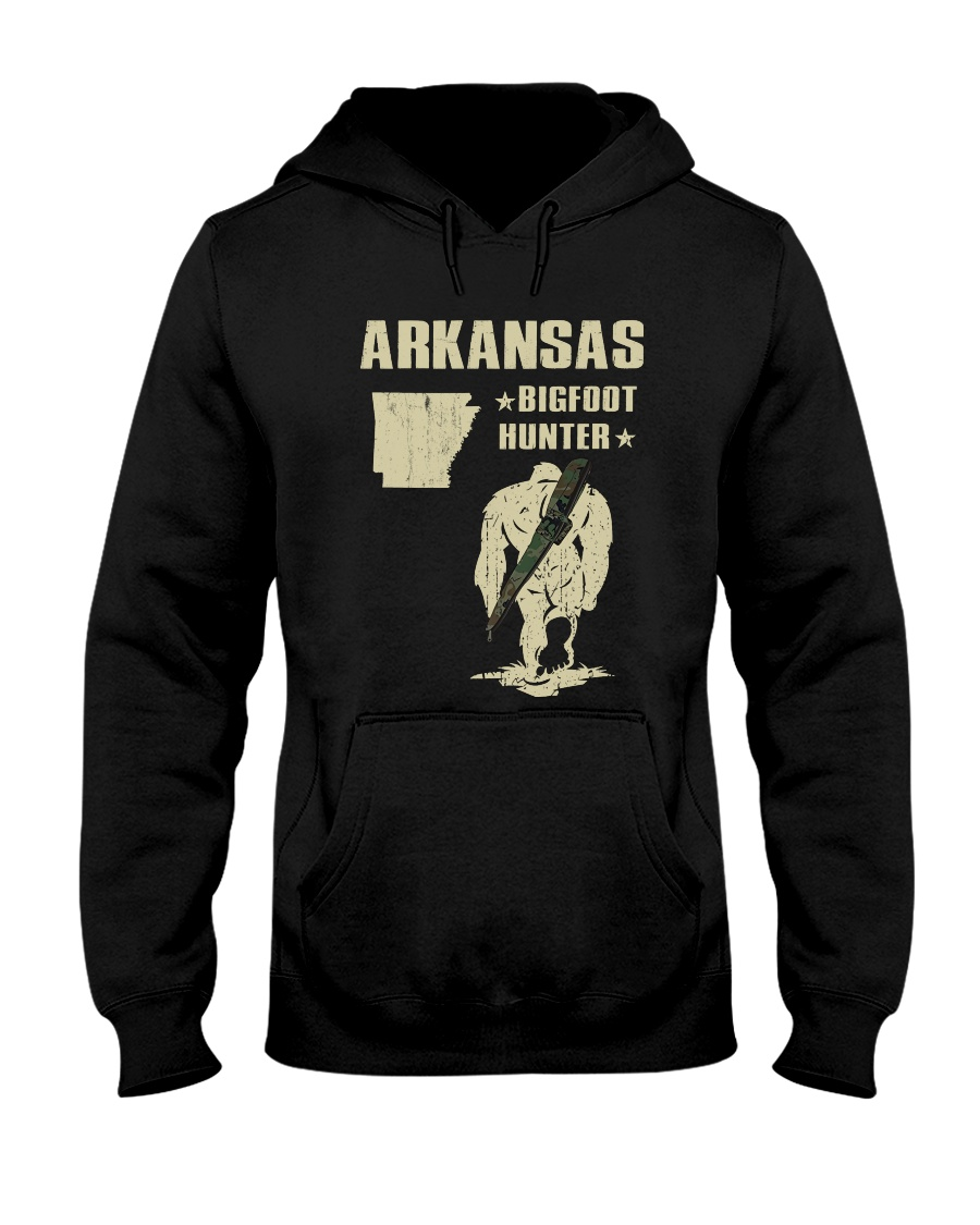 Arkansas - Bigfoot hunter Hooded Sweatshirt