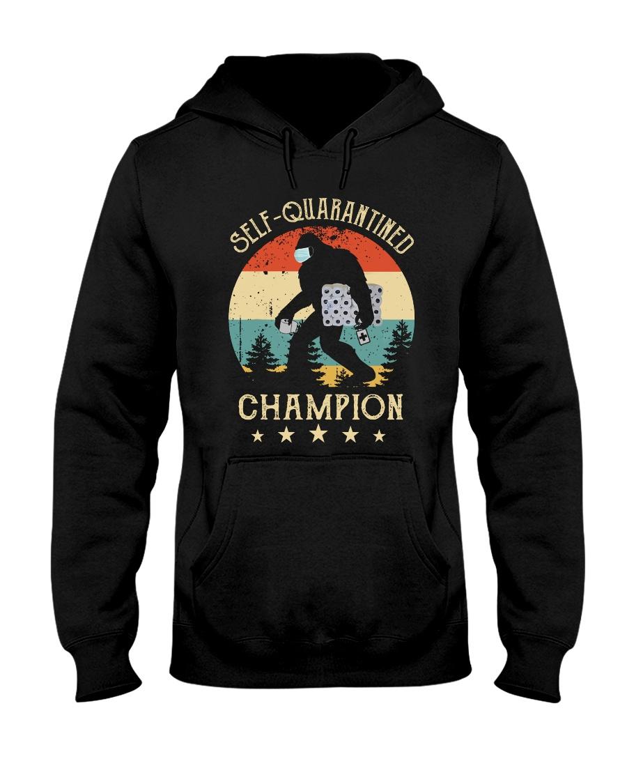 Self quarantined champion Hooded Sweatshirt