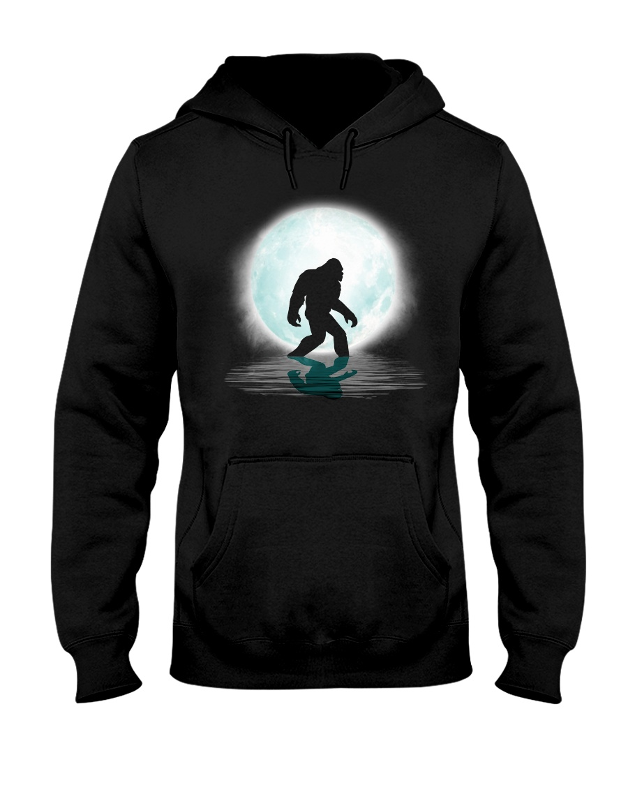 Bigfoot under the moon PT Hooded Sweatshirt
