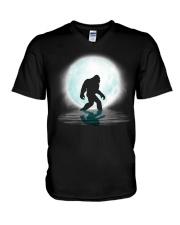 Bigfoot under the moon PT V-Neck T-Shirt thumbnail
