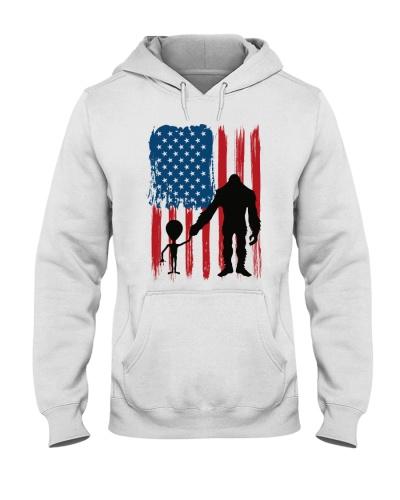 Bigfoot Alien Flag America