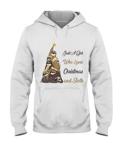 Just A Girl Who Love Sloth and Christmas