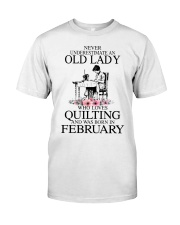 February quilting old lady Classic T-Shirt thumbnail