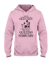 February quilting old lady Hooded Sweatshirt front