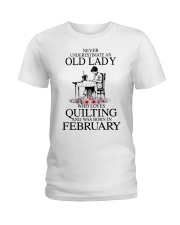 February quilting old lady Ladies T-Shirt thumbnail