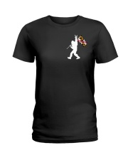 Maryland - Bigfoot Flag 2 sides Ladies T-Shirt thumbnail