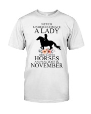 A lady who loves horses and was born in November Classic T-Shirt thumbnail
