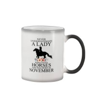 A lady who loves horses and was born in November Color Changing Mug thumbnail