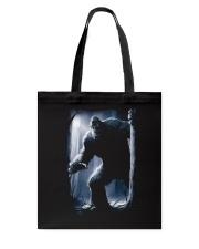 Bigfoot in the dark Tote Bag thumbnail