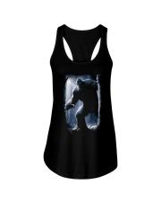 Bigfoot in the dark Ladies Flowy Tank thumbnail