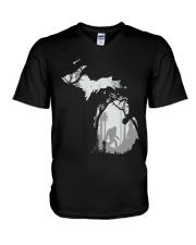 Michigan bigfoot - Year end sale V-Neck T-Shirt thumbnail
