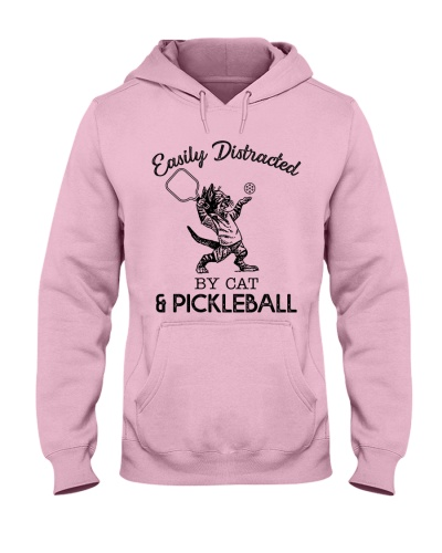 Easily Distracted by cat and pickleball
