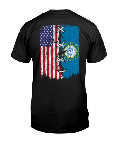 South Dakota and American flag 0037