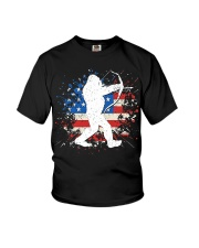 Bigfoot Hunting American Sasquatch Youth T-Shirt thumbnail