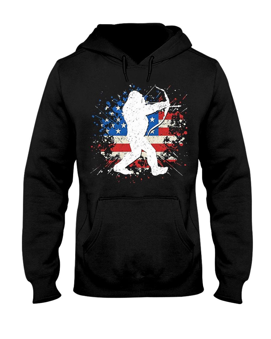 Bigfoot Hunting American Sasquatch Hooded Sweatshirt