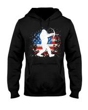 Bigfoot Hunting American Sasquatch Hooded Sweatshirt front