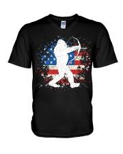Bigfoot Hunting American Sasquatch V-Neck T-Shirt thumbnail