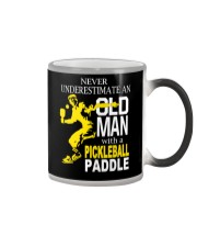 Never Underestimate Old Man with Pickleball Color Changing Mug thumbnail