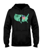 USA - Bigfoot Flag Hooded Sweatshirt thumbnail