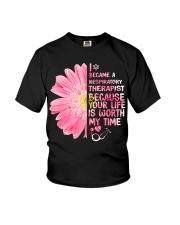 Became Respiratory Therapist Uyen Youth T-Shirt tile