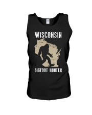 Wisconsin Bigfoot Hunter Unisex Tank tile