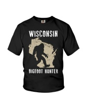 Wisconsin Bigfoot Hunter Youth T-Shirt tile