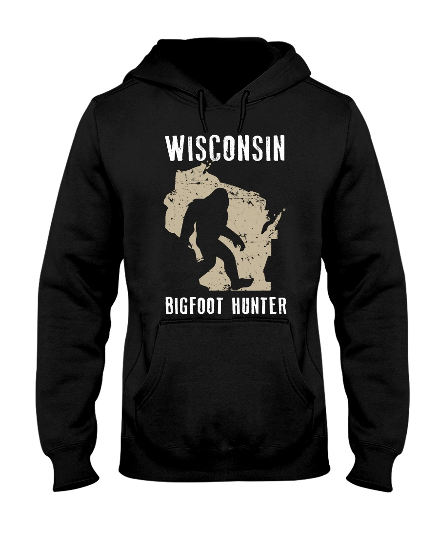Wisconsin Bigfoot Hunter Hooded Sweatshirt