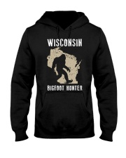 Wisconsin Bigfoot Hunter Hooded Sweatshirt tile