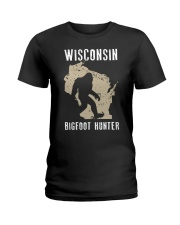 Wisconsin Bigfoot Hunter Ladies T-Shirt thumbnail