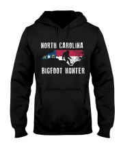 North Carolina Bigfoot Hunter Flag Hooded Sweatshirt front