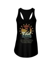 Tennis Dictionary Ladies Flowy Tank thumbnail
