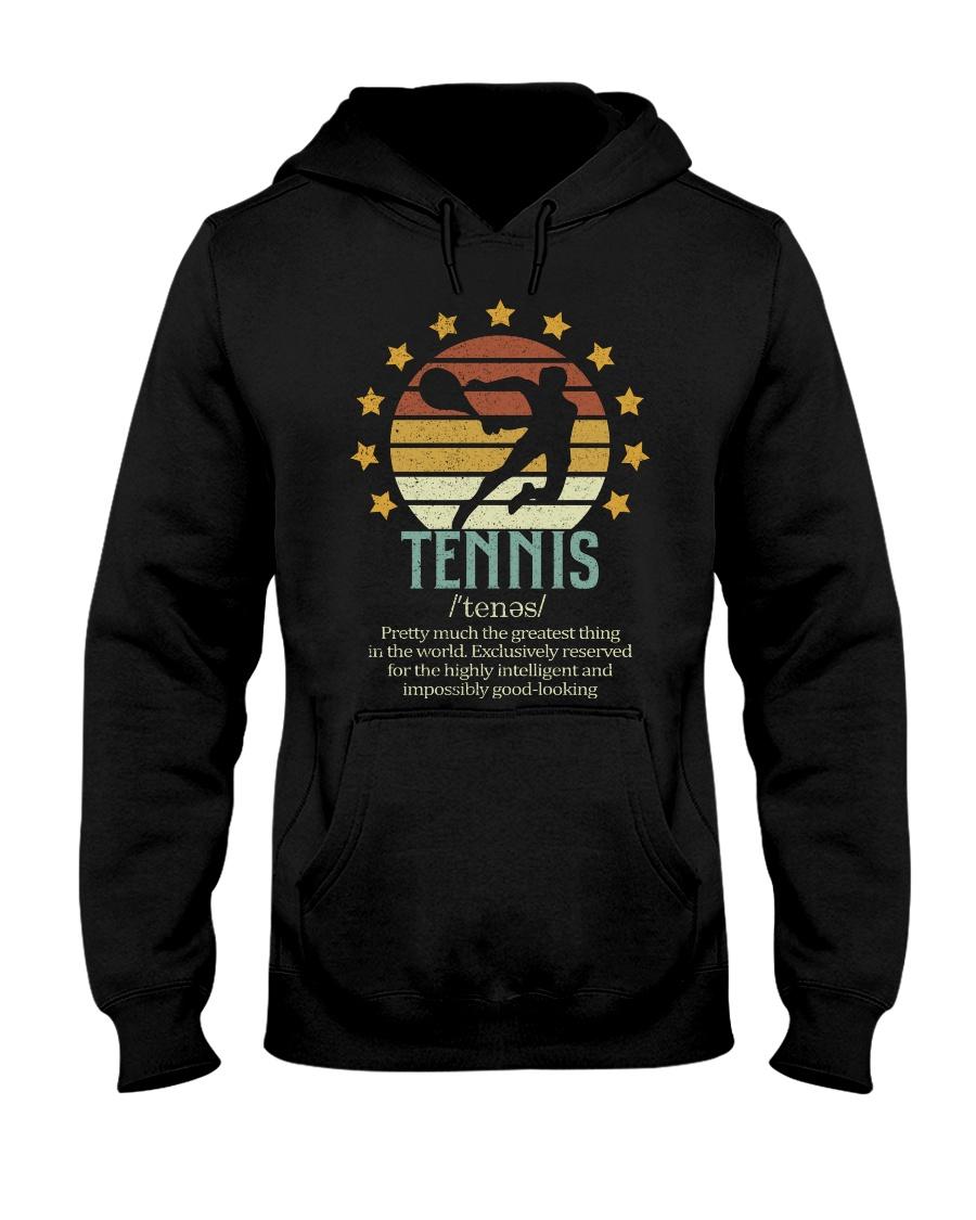 Tennis Dictionary Hooded Sweatshirt