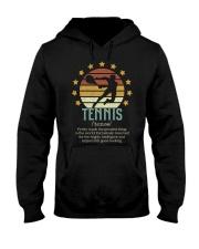 Tennis Dictionary Hooded Sweatshirt front