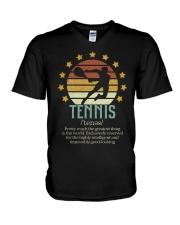 Tennis Dictionary V-Neck T-Shirt thumbnail