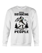 bigfoot distancing hate people Crewneck Sweatshirt thumbnail