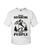bigfoot distancing hate people Youth T-Shirt thumbnail