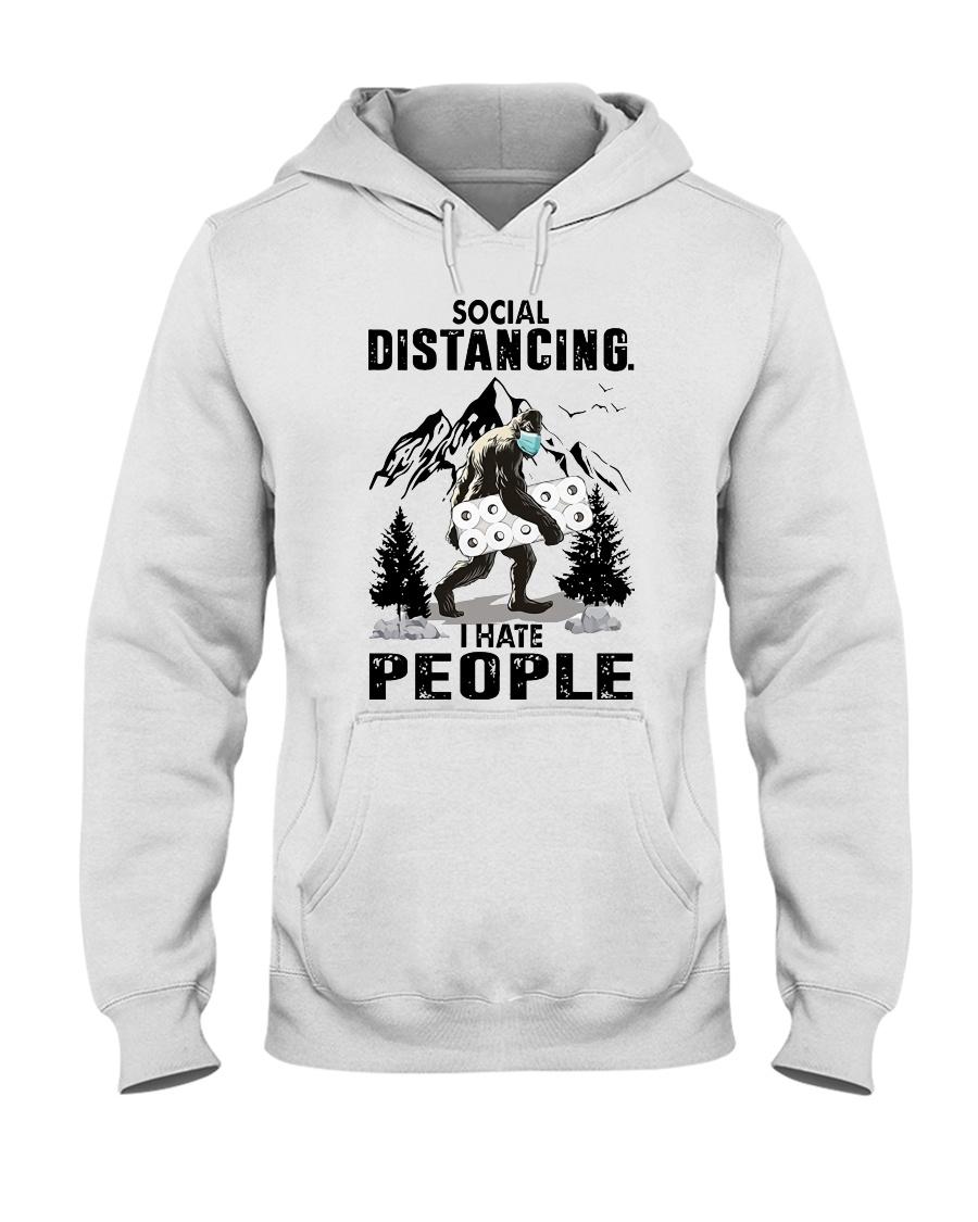 bigfoot distancing hate people Hooded Sweatshirt