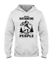 bigfoot distancing hate people Hooded Sweatshirt front