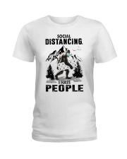 bigfoot distancing hate people Ladies T-Shirt thumbnail