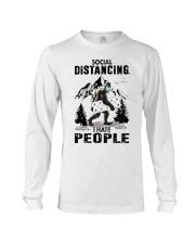 bigfoot distancing hate people Long Sleeve Tee thumbnail