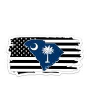 American and South Carolina map 9993 0037 Sticker - Single (Horizontal) thumbnail